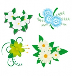 flower set vector image vector image