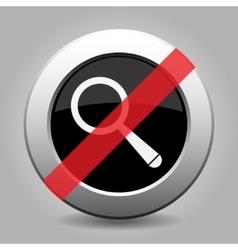 Gray chrome button - no magnifier vector