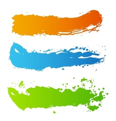 Grunge paint splash vector image
