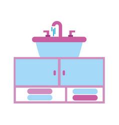 home sink towel for toilet bathroom ceramic vector image
