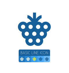 Isolated berry outline shrubby element can vector