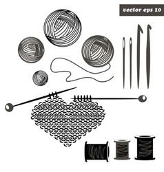 Knitting set vector