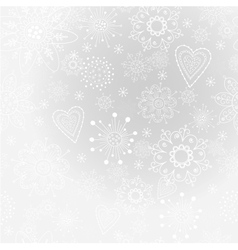 light-gray abstract background with snowflake vector image