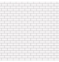 Modern seamless white brick background vector