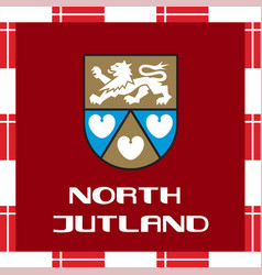 national ensigns of denmark - north jutland vector image vector image