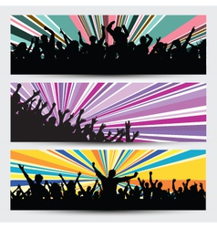 party crowd banner designs vector image