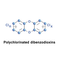 Polychlorinated dibenzodioxins compounds vector