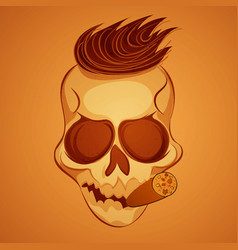 poster skull vector image vector image