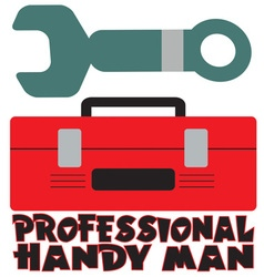 Professional handy man vector