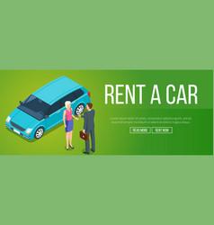 rent a car banner vector image