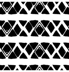 Rhombus simple seamless pattern hand drawn vector image