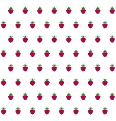 Sample seamless strawberry background vector image vector image