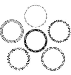 set of rings stencils vector image vector image