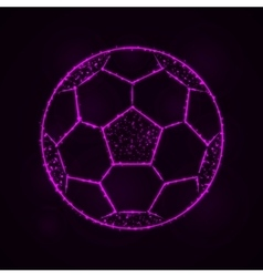 Soccer ball silhouette of lights vector image