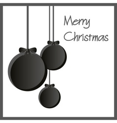 Three black paper christmas decoration baubles vector
