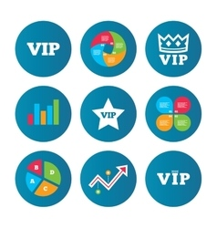 VIP icons Very important person symbols vector image