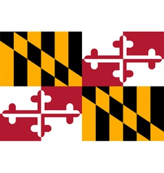 Marylander state flag vector image