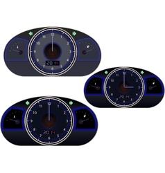 Clock-speedometr vector image