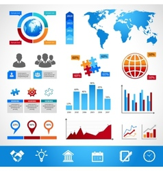Business Infographics Layout Design Elements vector image