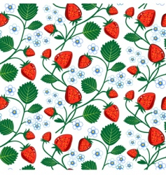 Strawberry seamless vector