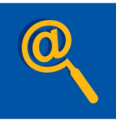 Mail symbol male a magnifier icon stock vector image