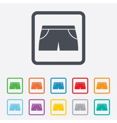 Womens sport shorts sign icon clothing symbol vector