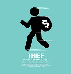 Thief black symbol graphic vector