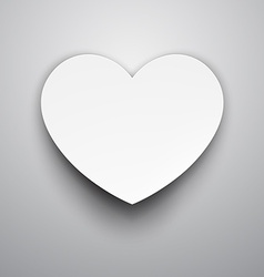Paper white heart vector