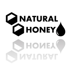 Natural honey symbol vector