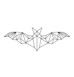 poligonal abstract bat vector image