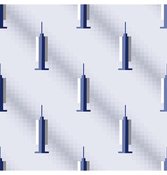 Pattern with medical syringe vector