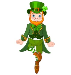 Dancing leprechaun vector