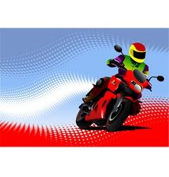 al 0817 motorcycle 01 vector image vector image