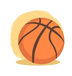 Basketball ball sport cartoon vector