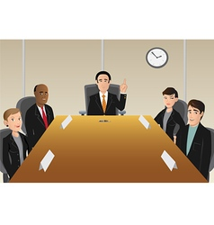 Boardroom members vector