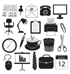 Business and Office Organization Icons vector image vector image