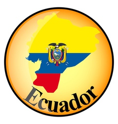 button Ecuador vector image vector image