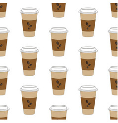 Coffee cup pattern vector