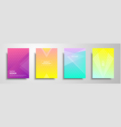 Colorful placard templates set with graphic vector