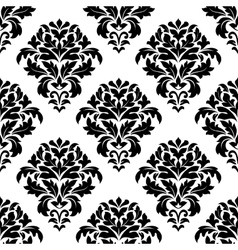Damask floral pattern design vector