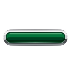 Dark green rectangular button icon cartoon style vector