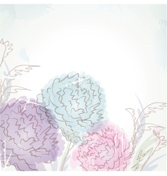 Delicate pattern with pastel colored flowers vector