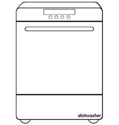 Dishwasher vector image