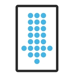 Dotted arrow down framed icon vector