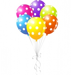 dotted balloons vector image