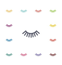 Eyelash flat icons set vector