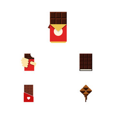 Flat icon cacao set of shaped box chocolate vector