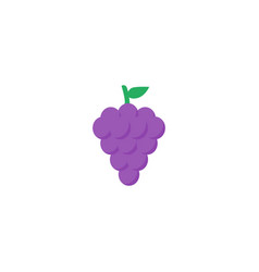 flat icon grape element of vector image