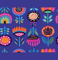 Flower art print in scandinavian style vector