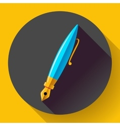 Fountain pen - icon flat design vector image vector image